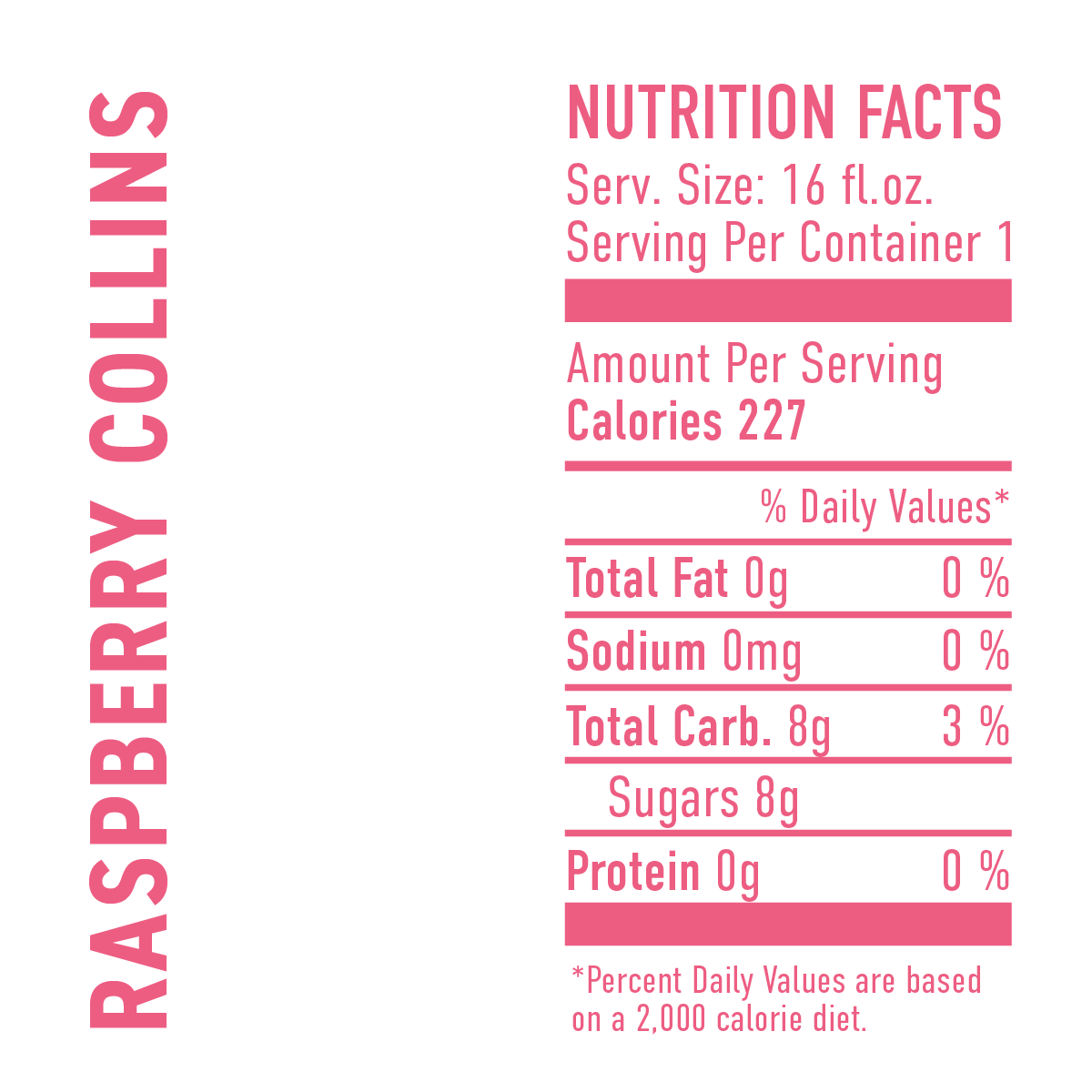 Raspberry Collins Cider Cocktail Nutrition Facts